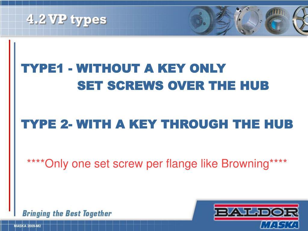 4.2 VP types