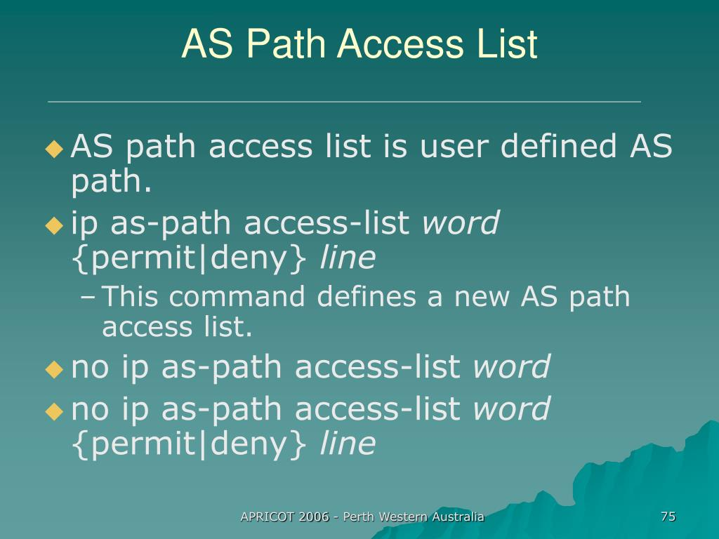 AS Path Access List
