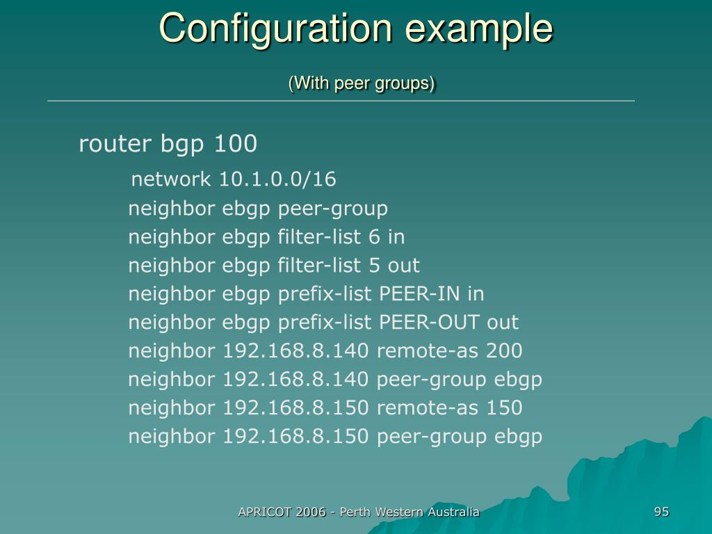 Configuration example