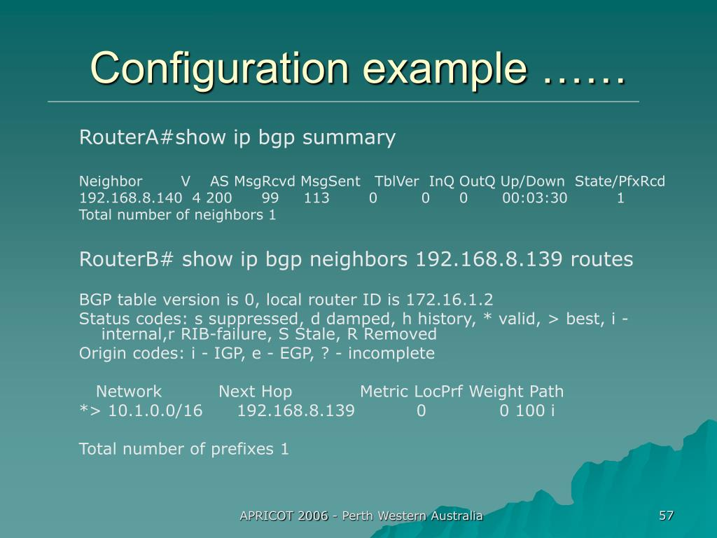 Configuration example ……