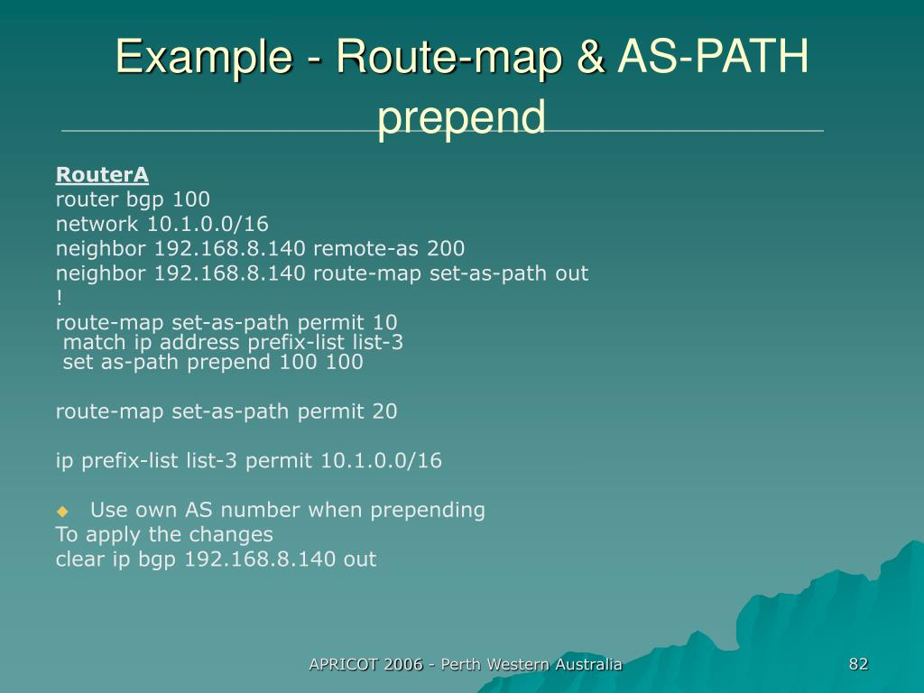 Example - Route-map &