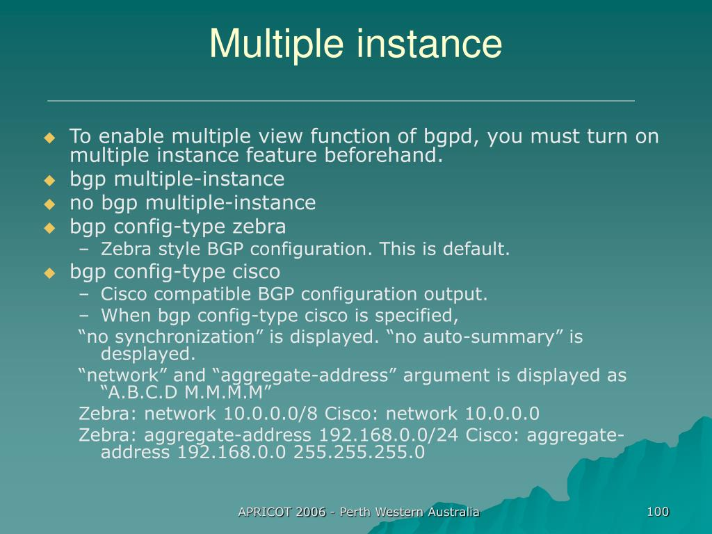 Multiple instance