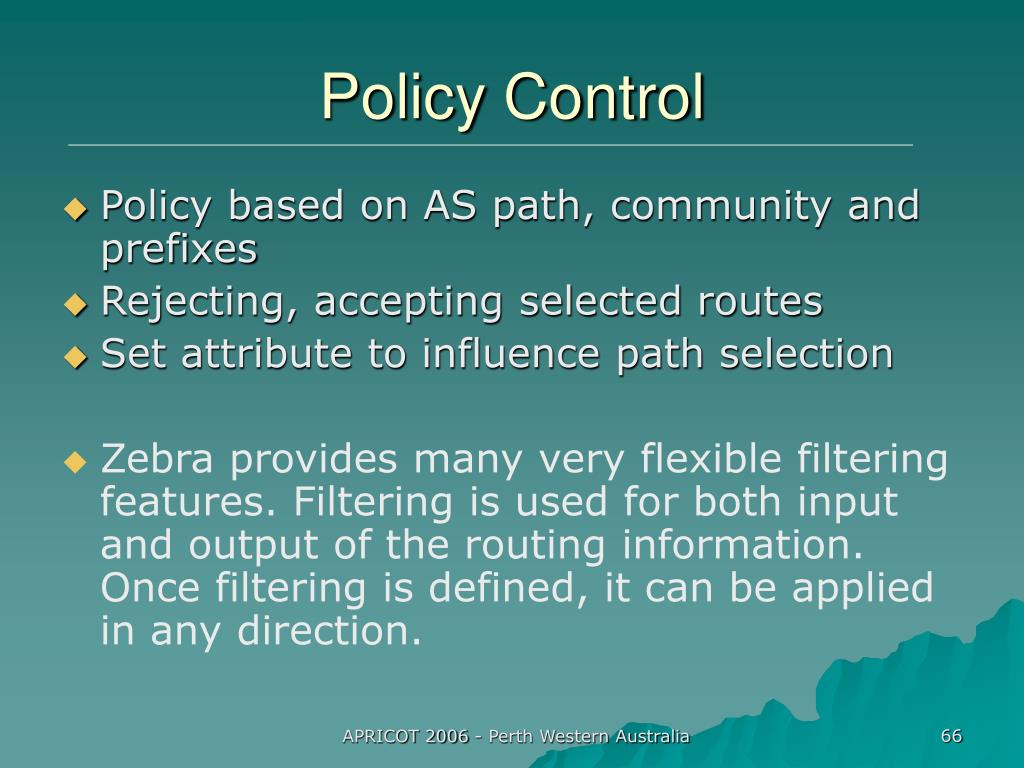 Policy Control