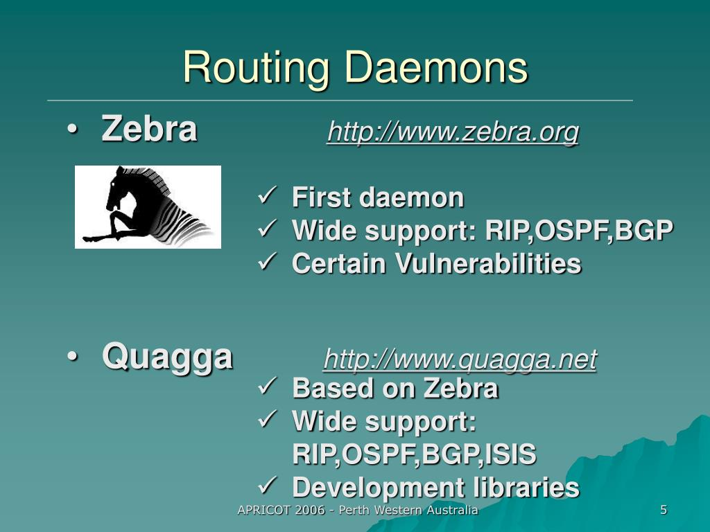 Routing Daemons