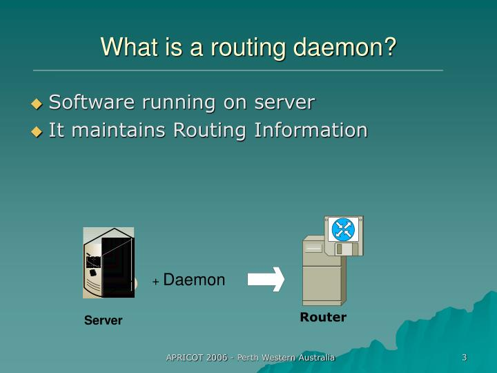 What is a routing daemon