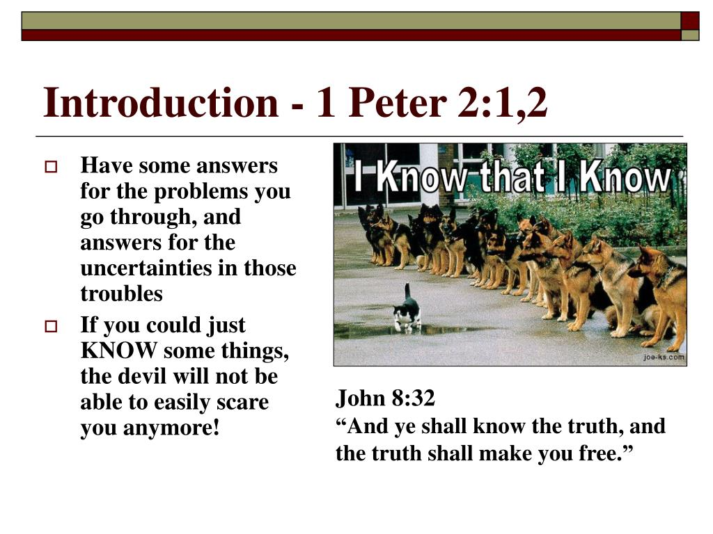 Introduction - 1 Peter 2:1,2