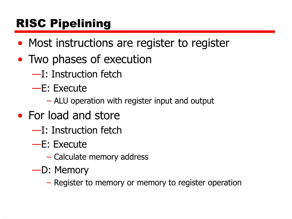 RISC Pipelining