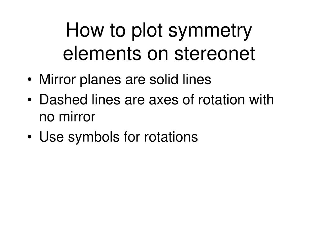 How to plot symmetry elements on stereonet