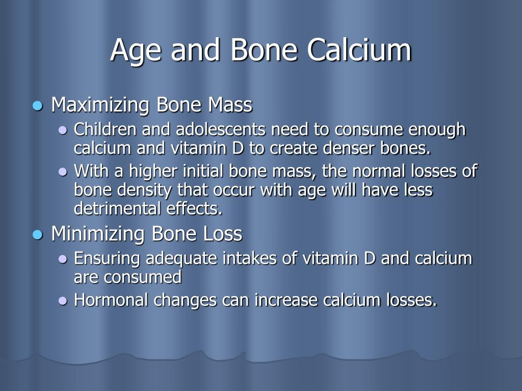 Age and Bone Calcium
