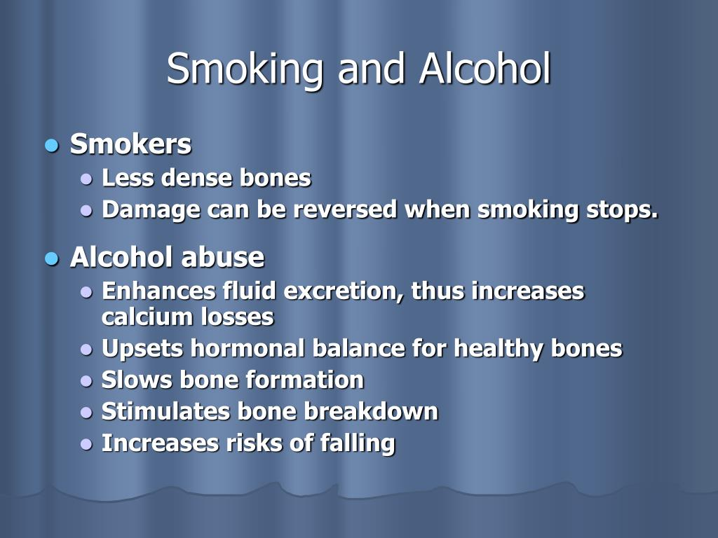 Smoking and Alcohol