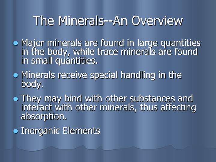 The minerals an overview l.jpg