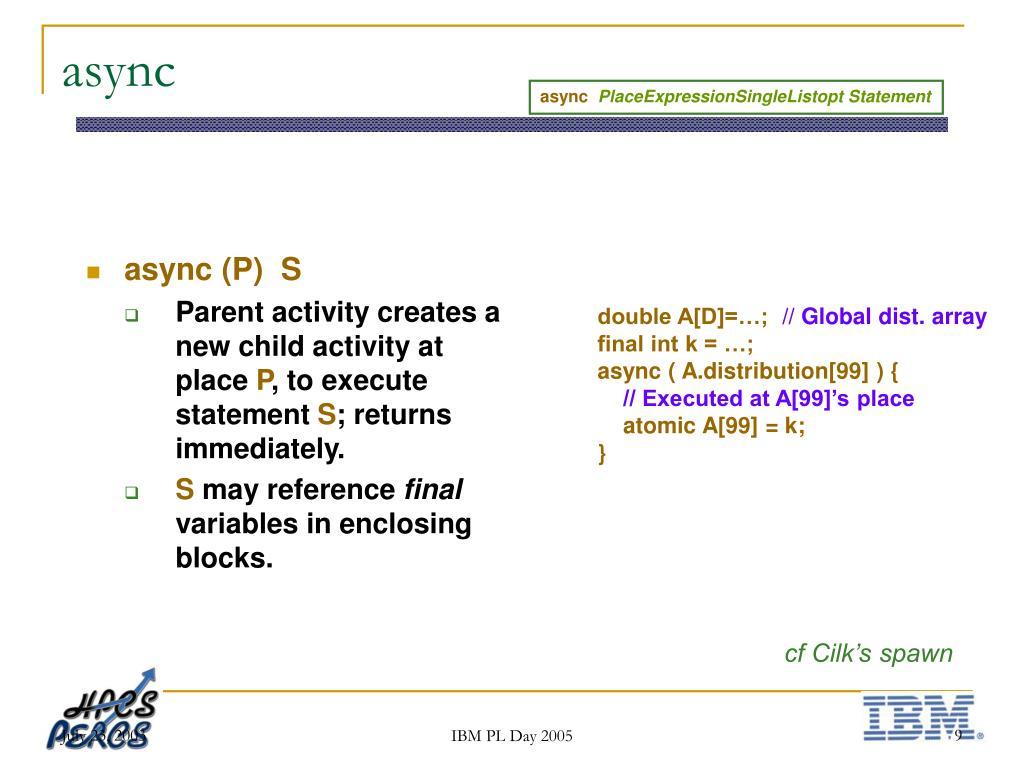 async (P)  S