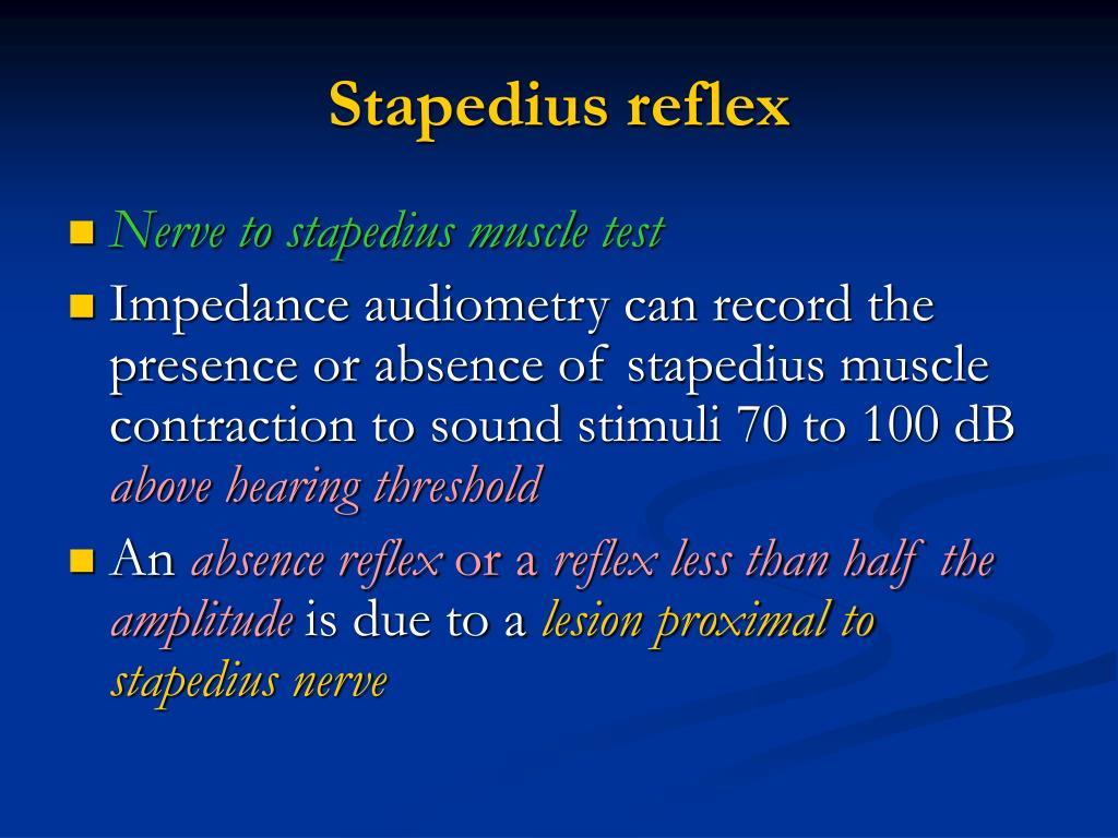 Stapedius reflex