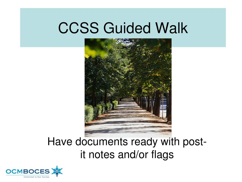 CCSS Guided Walk