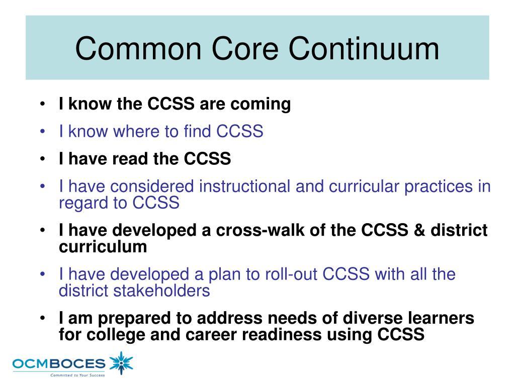 Common Core Continuum