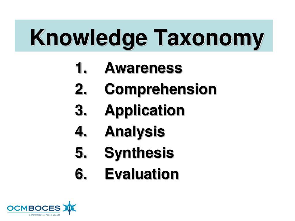 Knowledge Taxonomy