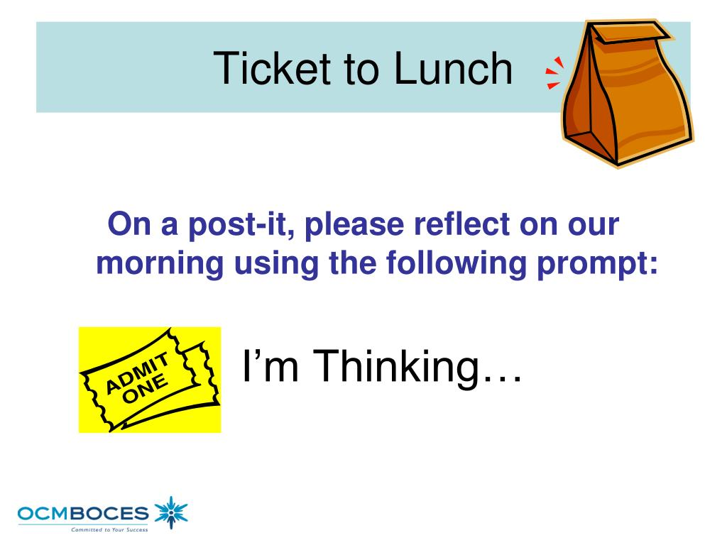 Ticket to Lunch
