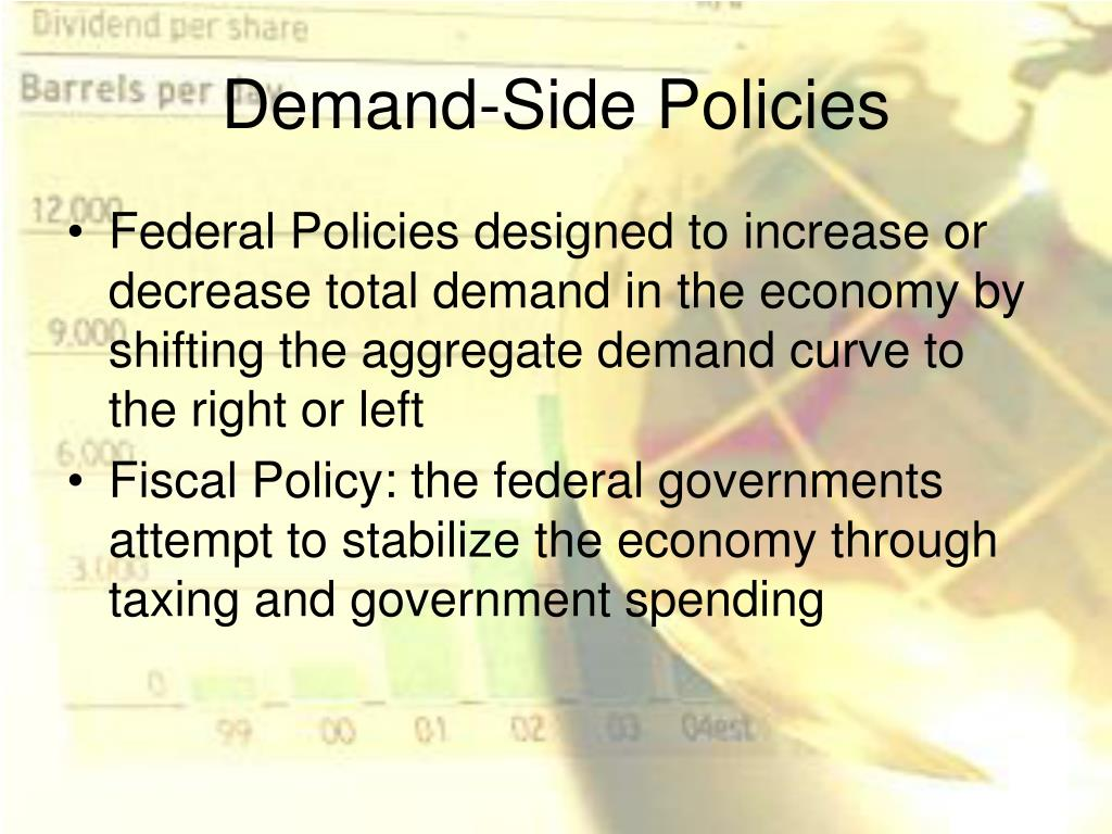 discuss how demand side policies and Aggregate demand aggregate  • supply‐side policies target the as  exchange rates and discuss financial crises mit opencourseware.