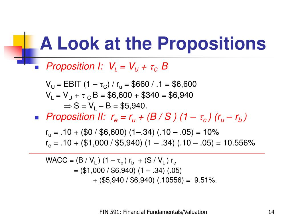 A Look at the Propositions