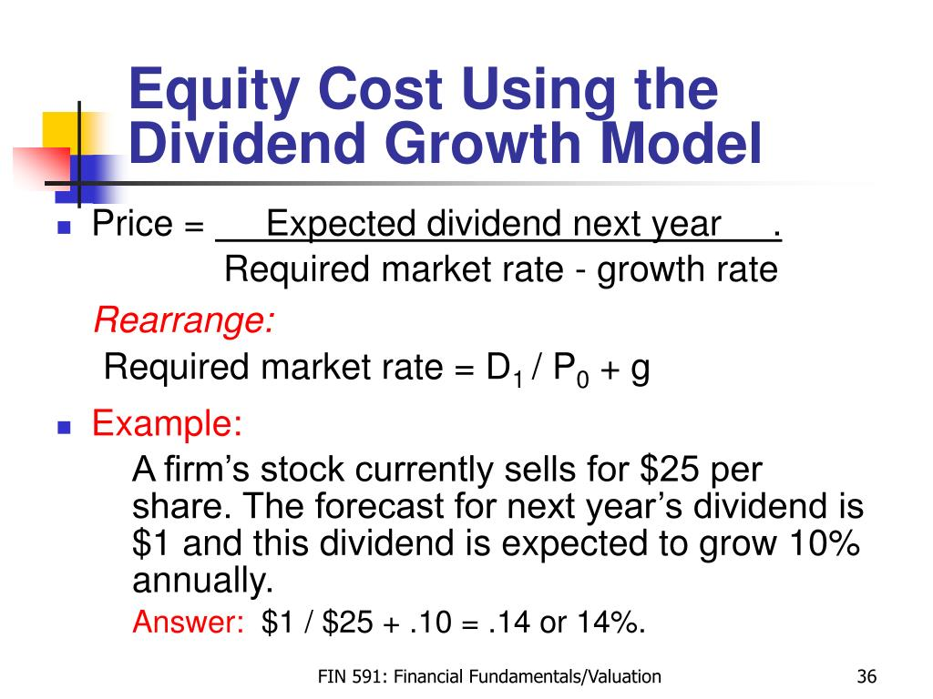 Equity Cost Using the