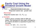 equity cost using the dividend growth model