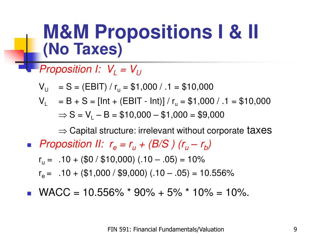 M&M Propositions I & II