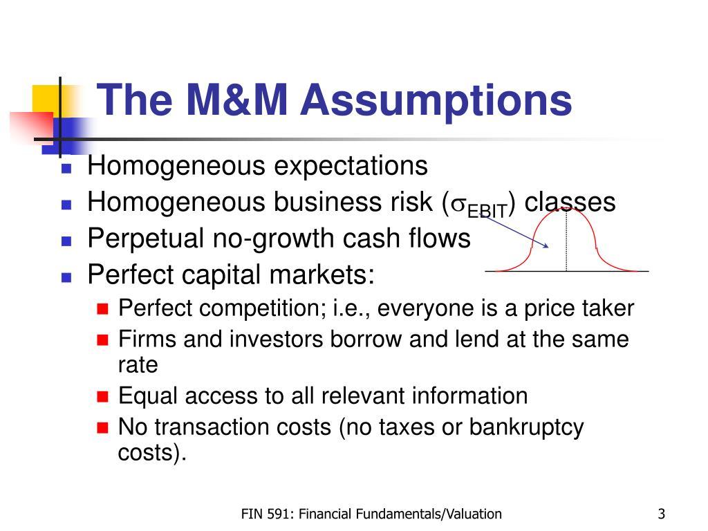 The M&M Assumptions