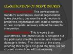 classification of nerve injuries18