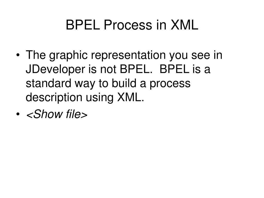 BPEL Process in XML