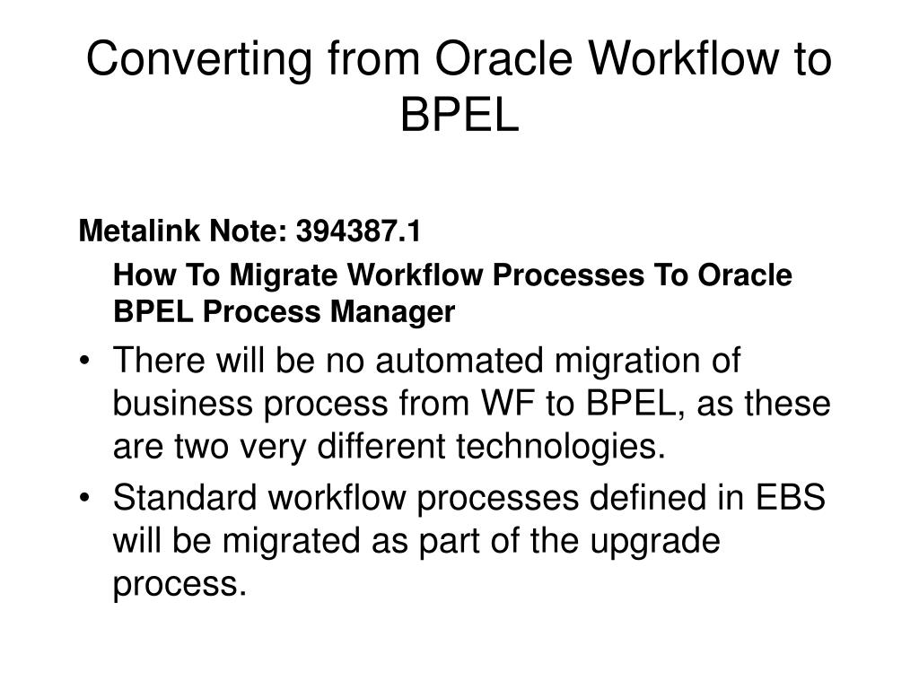 Converting from Oracle Workflow to BPEL