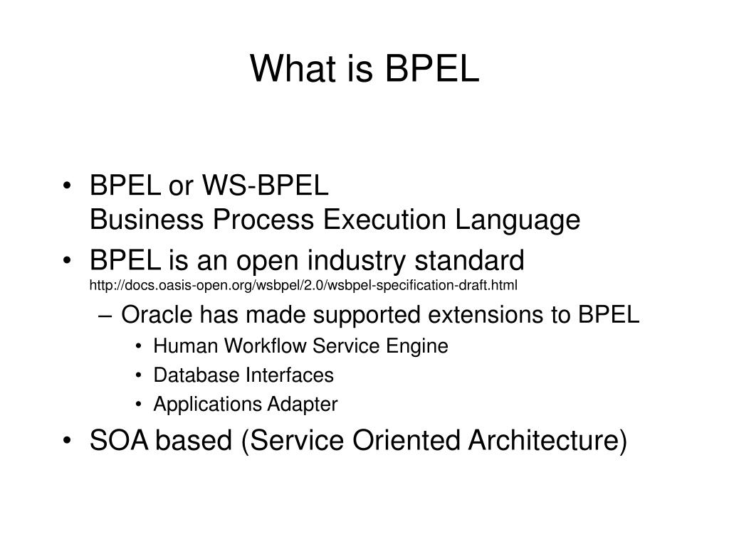 What is BPEL
