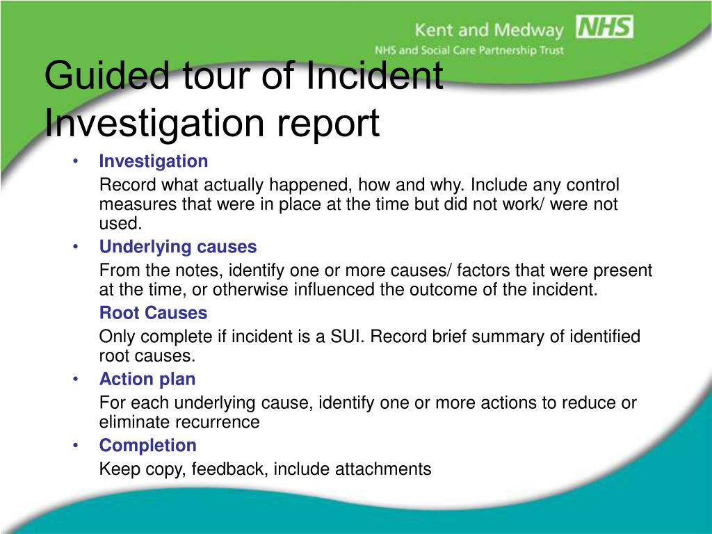 First aid incident report template