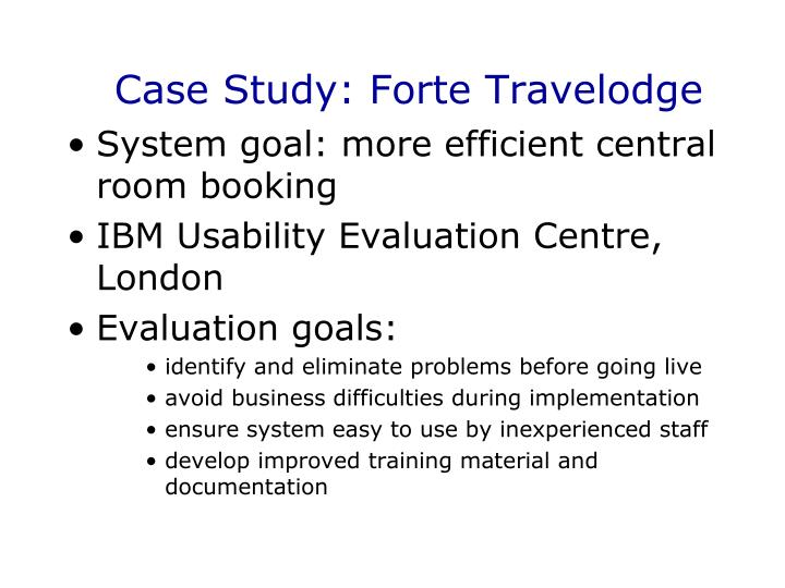 Case Study: Forte Travelodge