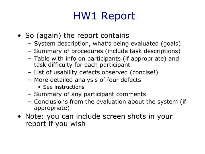 HW1 Report