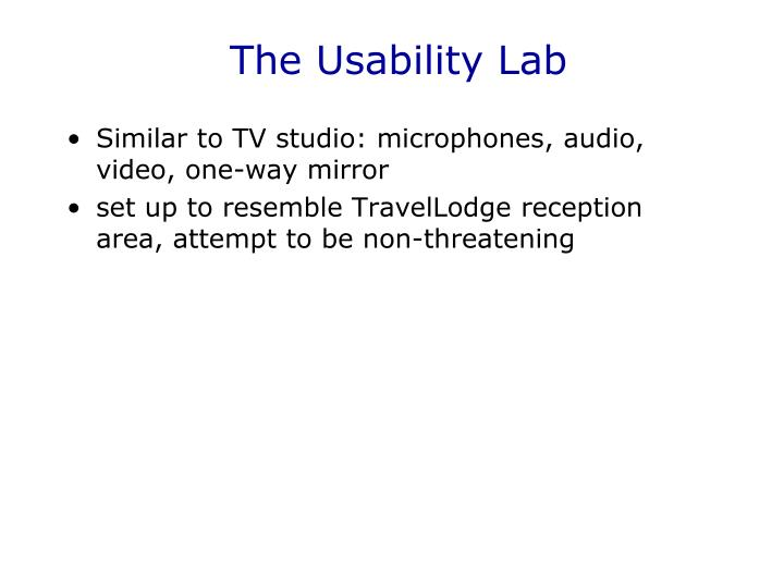 The Usability Lab