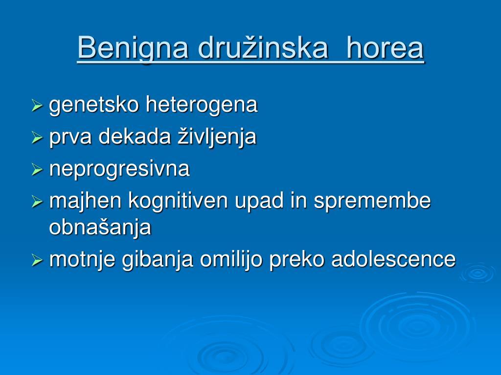 Benigna družinska  horea