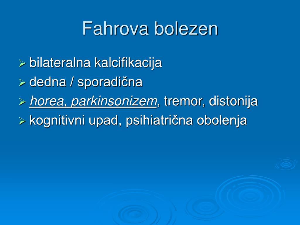 Fahrova bolezen