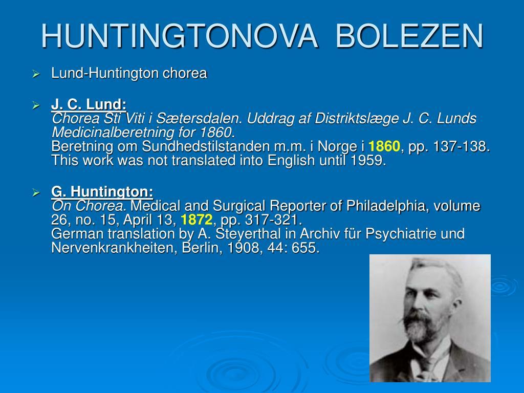HUNTINGTONOVA  BOLEZEN