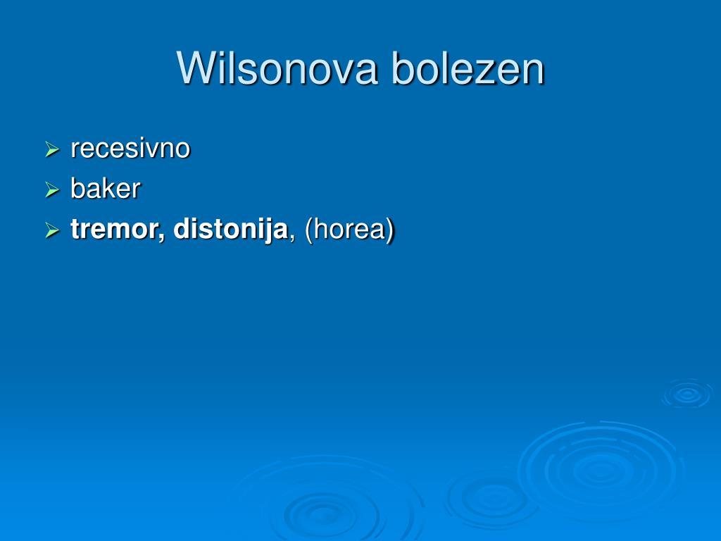 Wilsonova bolezen