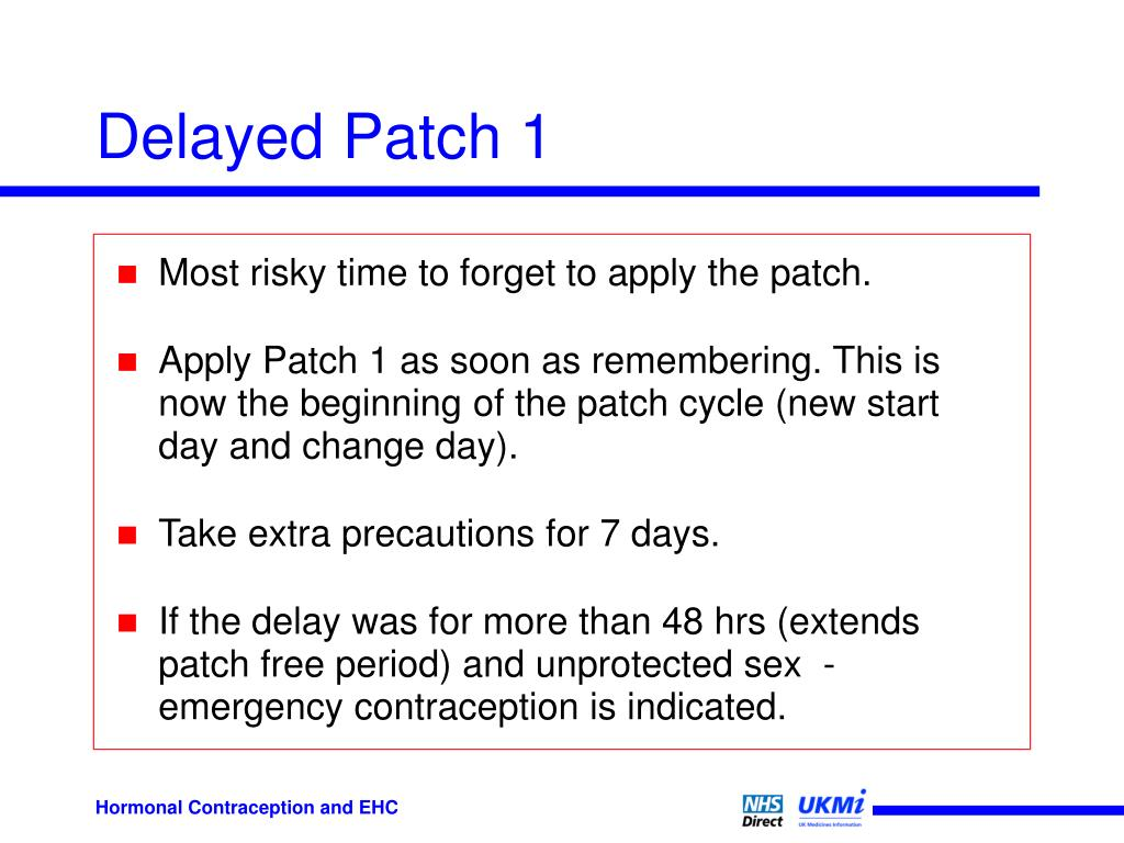 Delayed Patch 1