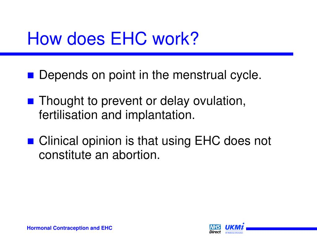 How does EHC work?