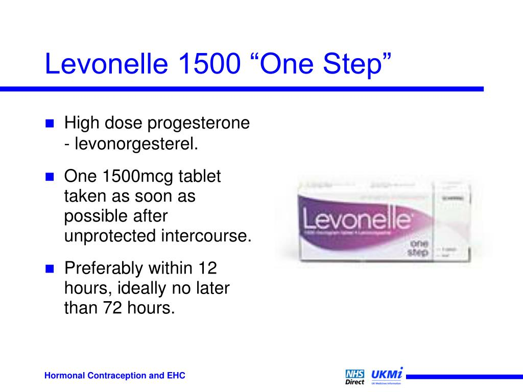 "Levonelle 1500 ""One Step"""