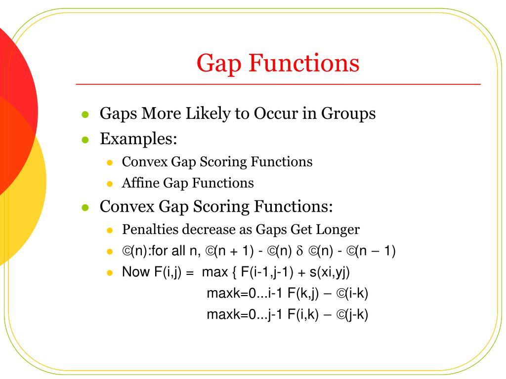 Gap Functions