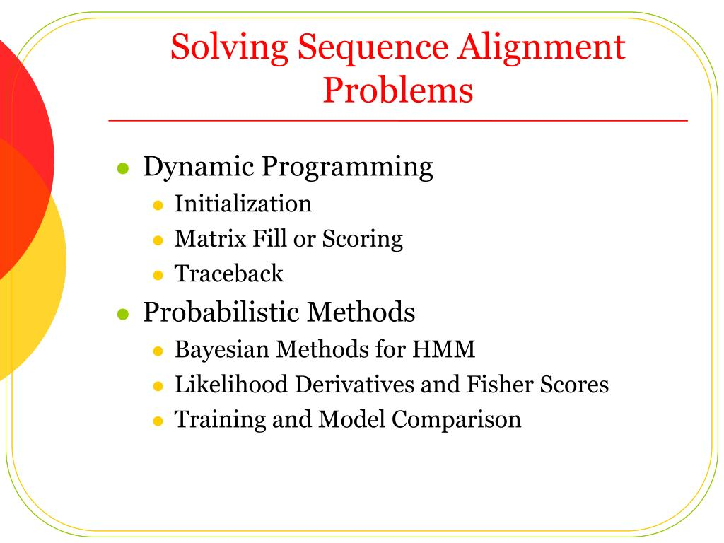 Solving Sequence Alignment Problems