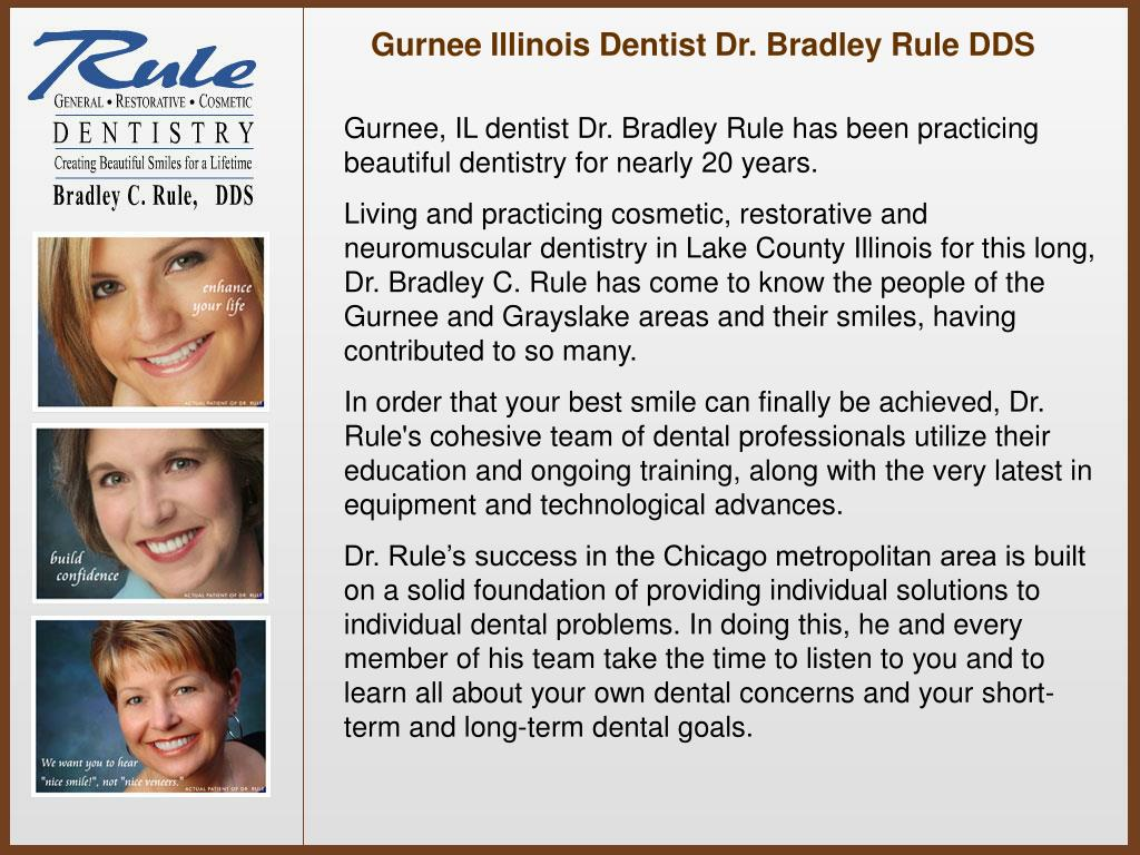 Gurnee Illinois Dentist Dr. Bradley Rule DDS