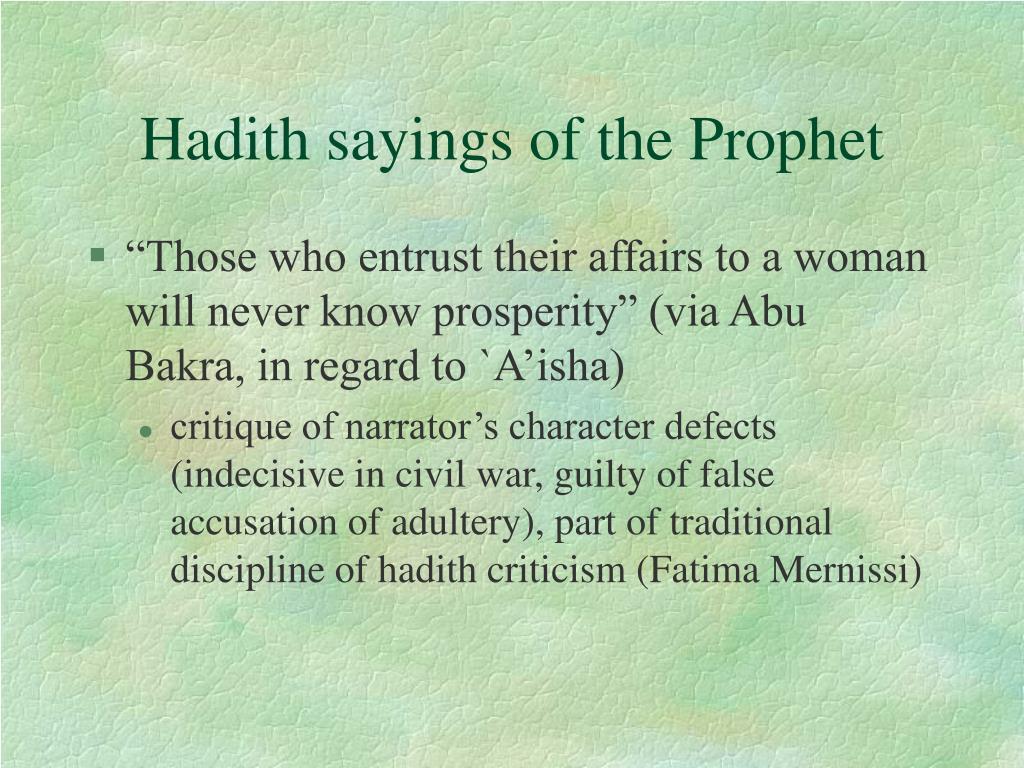 Hadith sayings of the Prophet