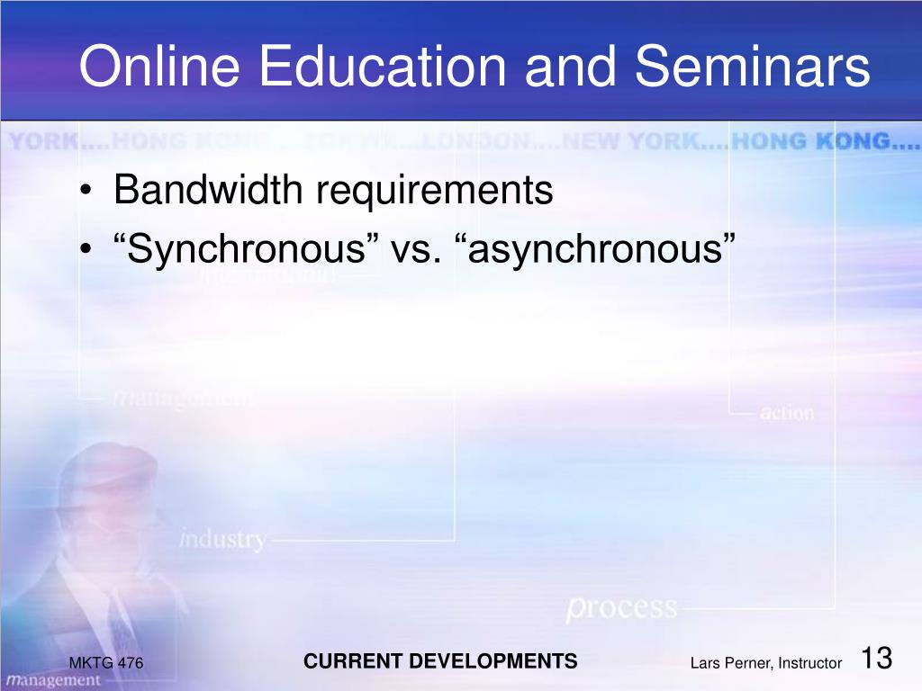 Online Education and Seminars