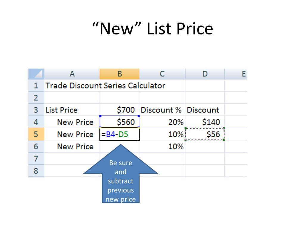 """New"" List Price"