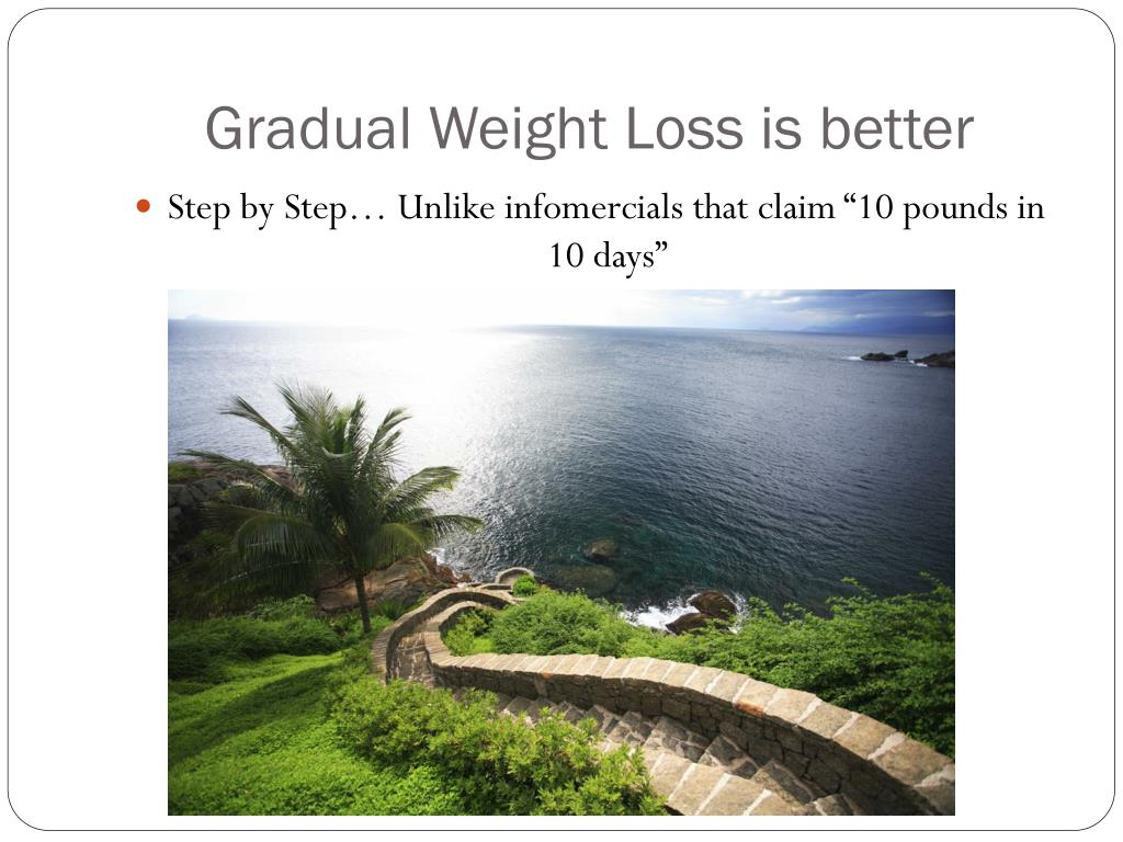 Gradual Weight Loss is better
