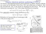 elastic electron proton scattering 1950 s25